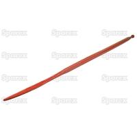 21-007  Dent de fourche   Droite 1,400mm, Filetage: M20 x 1.5