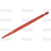 21-024  Dent de fourche   Droite 760mm, Filetage: M20 x 1.5
