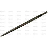 21-501  Dent de fourche   Droite 810mm, Filetage: M22 x 1.5