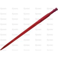 21-033  Dent de fourche   Droite 800mm, Filetage: M22 x 1.5