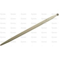 21-324  Dent de fourche   Droite 810mm, Filetage: M22 x 1.5