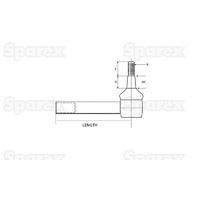 9-42 Rotule biellette direction, Longueur: 236mm
