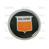 """9-619 Cache écrou de volant de direction manuelle, noir """"Oliver"""""""