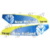 AUTOCOLLANT NEW HOLLAND TM190 BLANC