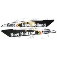 AUTOCOLLANT NEW HOLLAND TM155 - NOIR