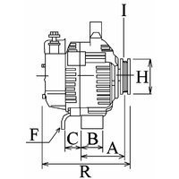 Alternateur 343 Voltage14 Amp90