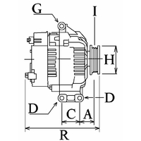 Alternateur 100 Voltage14 Amp220
