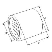 ø Int.0011.13x15.9x12.7-0-319 - Roulement aiguille 11.13x15.9x12.7