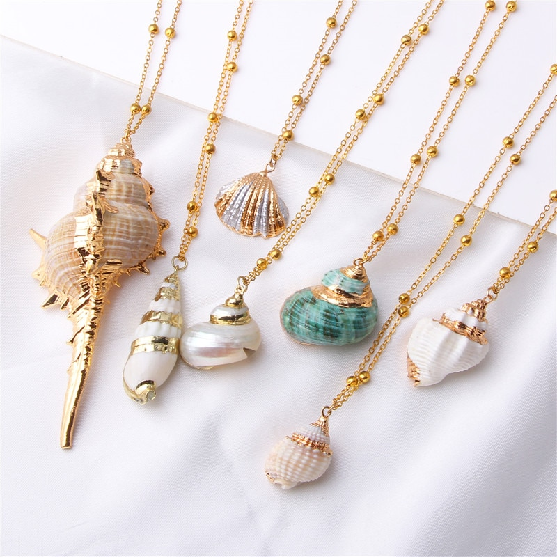 collier coquillage or