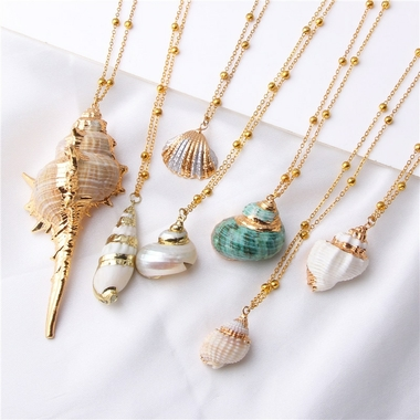 2019-Boho-conque-coquille-Collier-mer-plage-coquille-pendentif-Collier-pour-femmes-Collier-Femme-coquille-Cowrie