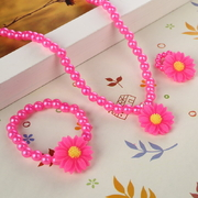 amical-infantile-de-r-sine-belle-b-b-fleur-collier-bracelet-bague-ensemble-enfants-ensemble-de