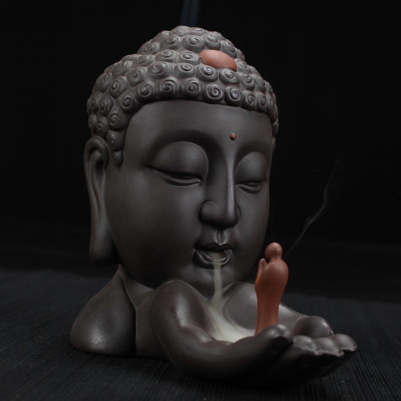 Porte-encens à refoulement Bouddha