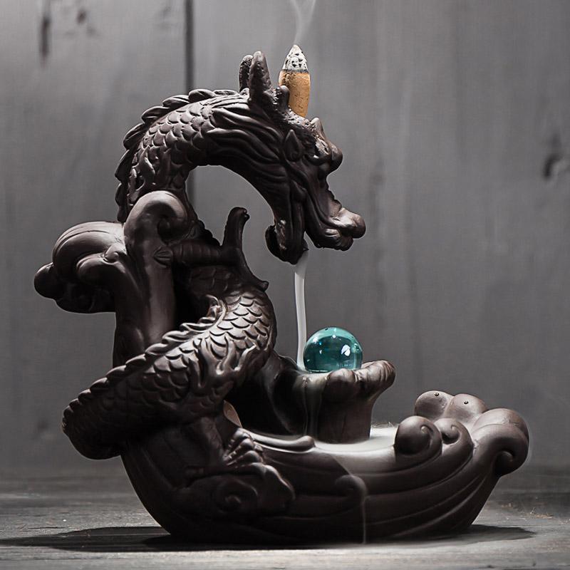 Porte-encens à refoulement Dragon