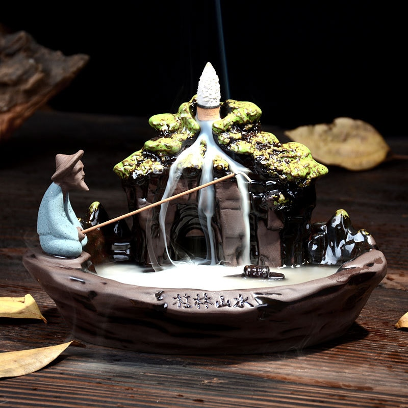 Porte-encens Pêcheur Asiatique