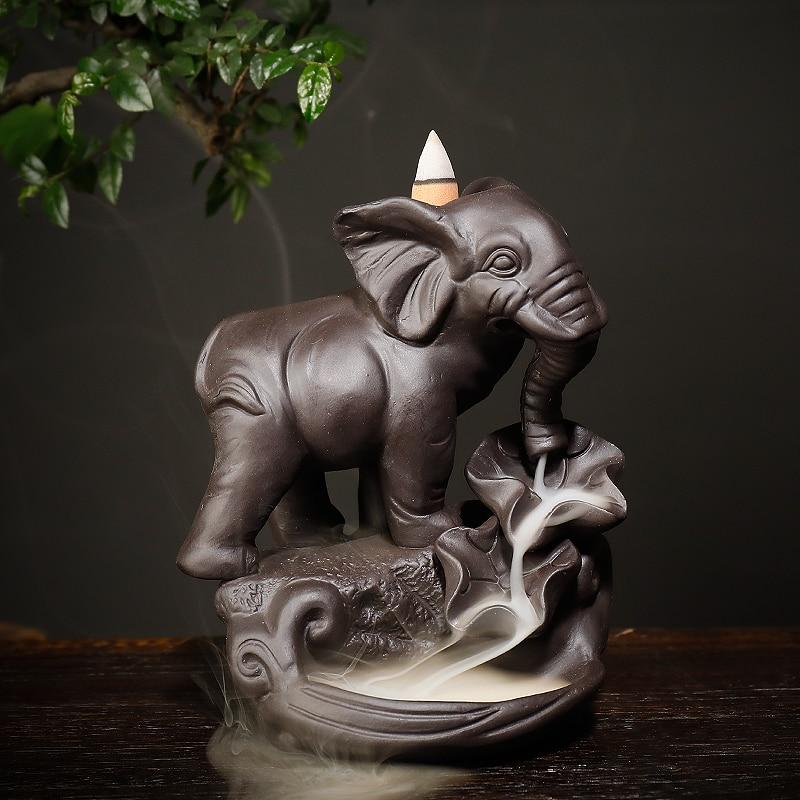 Porte-encens Éléphant Porte-Bonheur