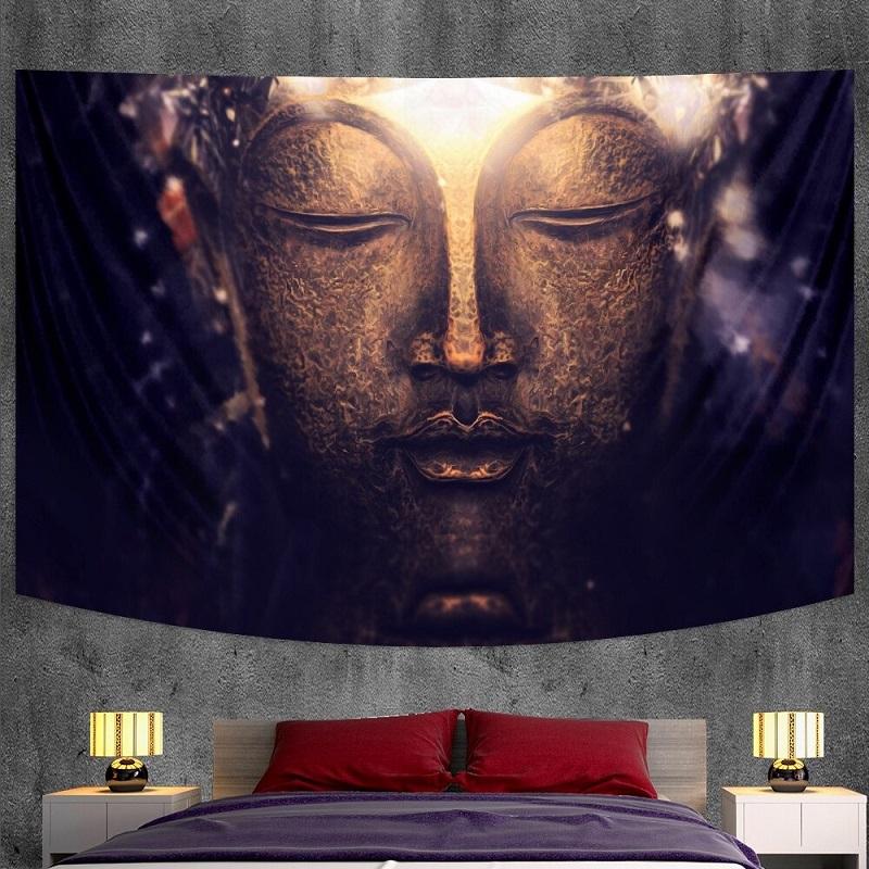 tenture murale bouddha méditation