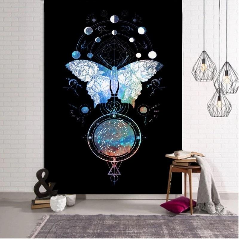 Tenture Murale Papillon et Constellations