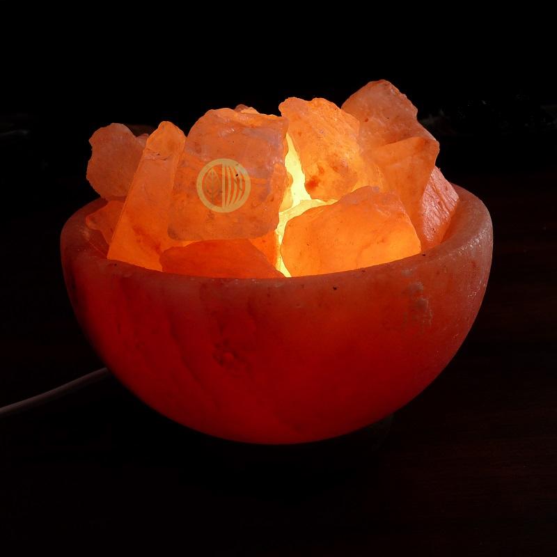 lampe à sel bol de cristaux
