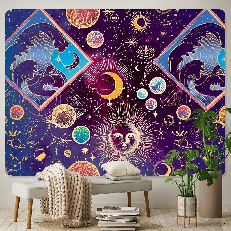 tapisserie murale soleil planètes