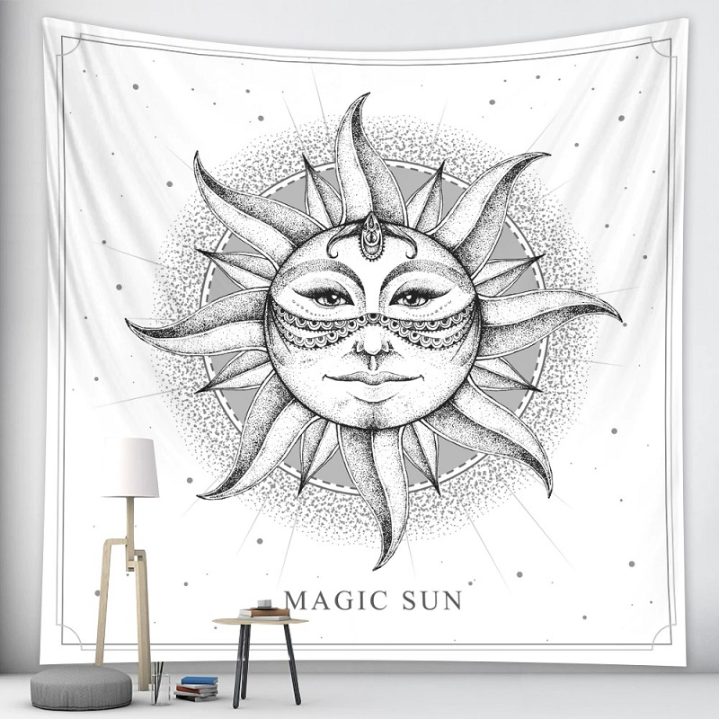 tapisserie murale zen soleil
