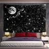 tenture murale lune et étoiles