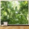tenture murale feuilles tropicales