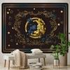 tenture murale demi-lune arabesques