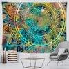 tenture murale mandala indien fleur de vie