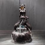 porte-encens refoulement céramique dragon