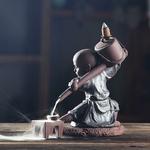 porte-encens à refoulement moine shaolin