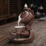 porte encens théière et mains bouddha