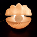 lampe décorative sel coquillage