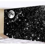 tapisserie murale espace lune étoiles