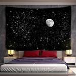 tenture murale lune gibbeuse ciel étoilé