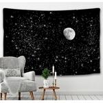 tapisserie murale lune étoiles