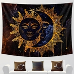 tenture murale zen lune et soleil