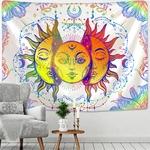 tenture murale lune et soleil