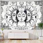 tapisserie murale lune soleil