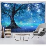 tenture murale arbre nuit