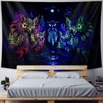 tapisserie murale zen hiboux