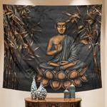 tenture bouddha bambou
