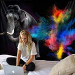 tapisserie murale éléphant zen