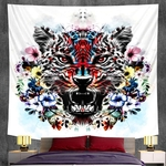 tapisserie murale tête de tigre