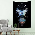 tenture murale papillon constellations