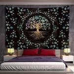 tapisserie murale décorative arbre