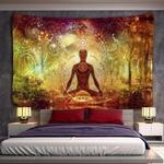 tapisserie murale yoga méditation