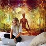 tenture murale zen yoga