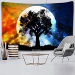 tenture murale zen arbre lune