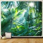 tenture murale plantes tropicales