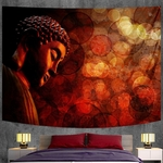 tapisserie murale méditation bouddha